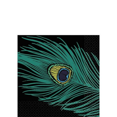 Peacock Beverage Napkins, 16-pk Product image