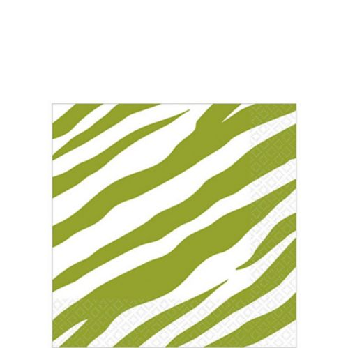 Zebra Print Beverage Napkins, 16-pk