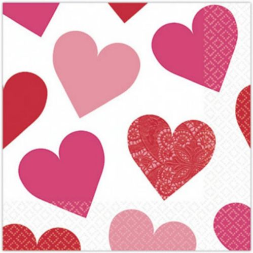 Key to Your Heart Valentine's Day Beverage Napkins, 16-pk