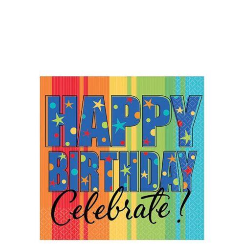Serviettes de table anniversaire, paq. 16 Image de l'article