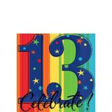 13th Birthday Celebration Beverage Napkins, 16-pk