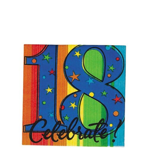 A Year to Celebrate 18th Birthday Beverage Napkins, 16-pk