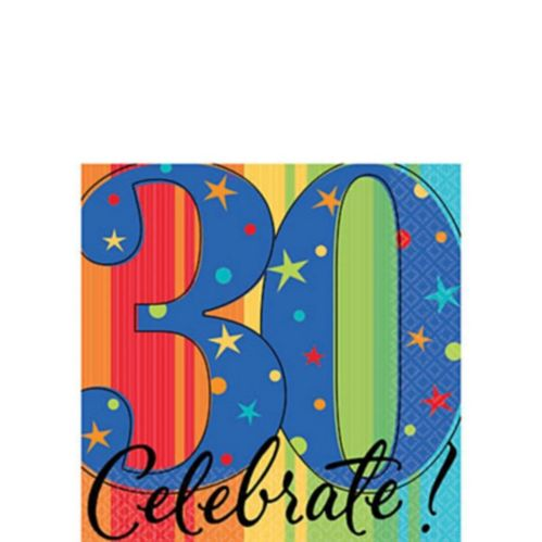 Celebrate 30th Birthday Napkin, 16-pk