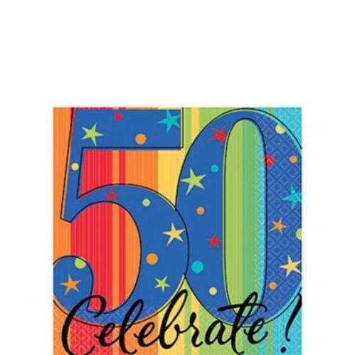 Serviettes de table 50e anniversaire, paq. 16