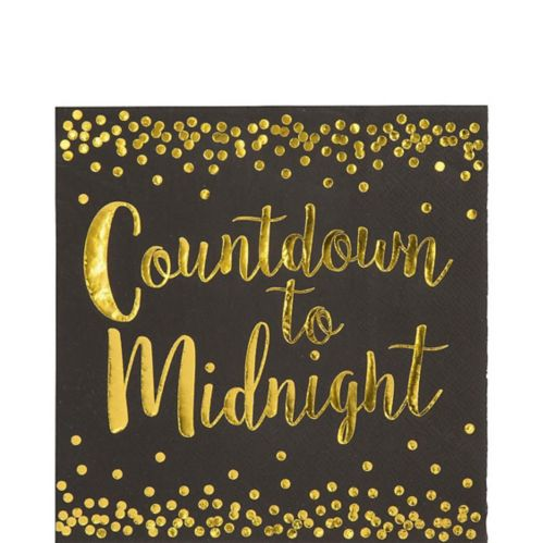Countdown to Midnight Lunch Napkins, 16-pk