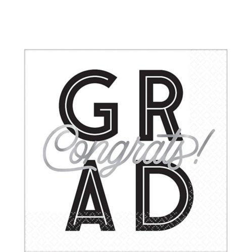 Serviettes de table pour remise de diplôme, Grid, paq. 16 Image de l'article
