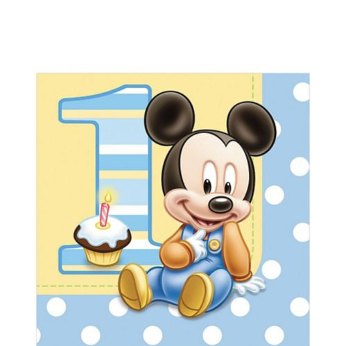 Serviettes de table Mickey Mouse 1st Birthday, paq. 16 Image de l'article