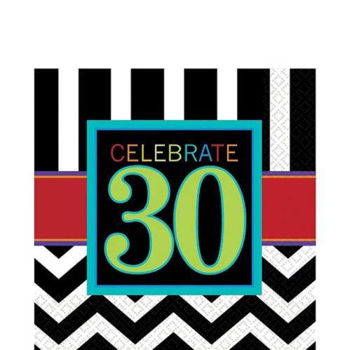 Serviettes de table Célébration 30e anniversaire, pq. 16 Image de l'article