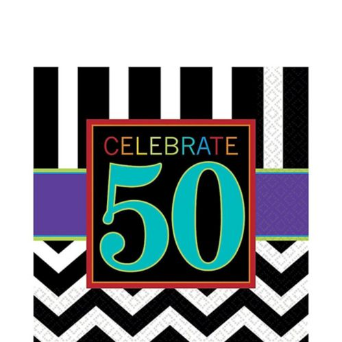 Celebrate 50th Birthday Lunch Napkins, 16-pk