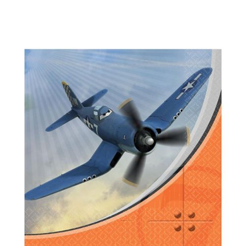Serviettes de table avec avions, paq. 16