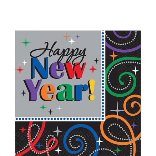 Cheers New Year's Lunch Napkins, 16-pk