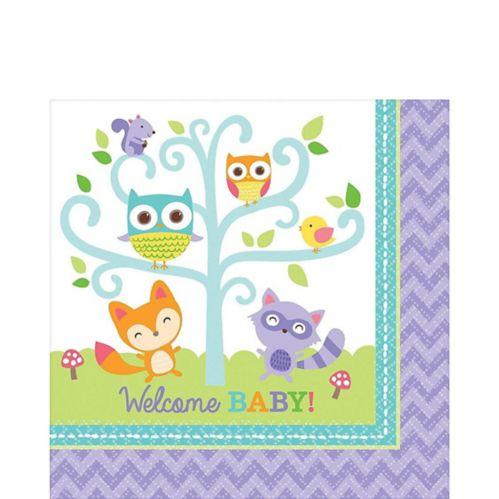 Serviettes de table Woodland pour fête prénatale, paq. 16 Image de l'article