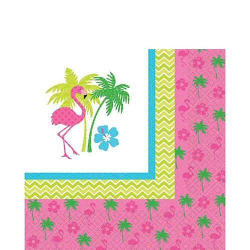 Serviettes de table flamant rose amusant, paq. 16 Image de l'article