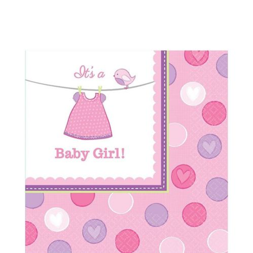 It's a Girl Baby Shower Lunch Napkins, 16-pk