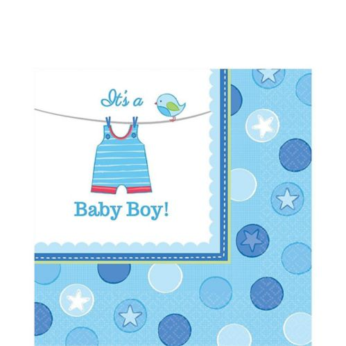 It's a Boy Baby Shower Lunch Napkins, 16-pk