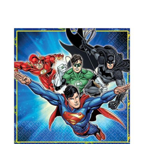 Justice League Lunch Napkins, 16-pk