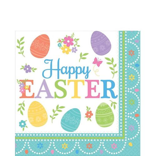 Egg-citing Easter Lunch Napkins, 16-pk