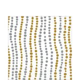 Metallic Wavy Dots Lunch Napkins, 16-pk