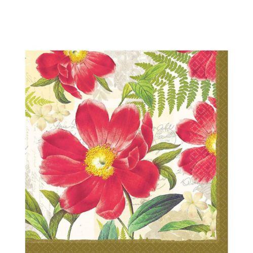 Serviettes de table avec Botanical Peony, paq. 16