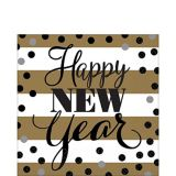 Golden Pattern New Year's Lunch Napkins, 16-pk