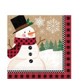 Winter Wonder Snowman Lunch Napkins, 16-pk