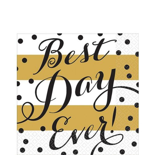 Best Day Ever Wedding Lunch Napkins, 16-pk