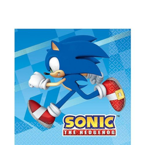 Sonic the Hedgehog Lunch Napkins, 16-pk