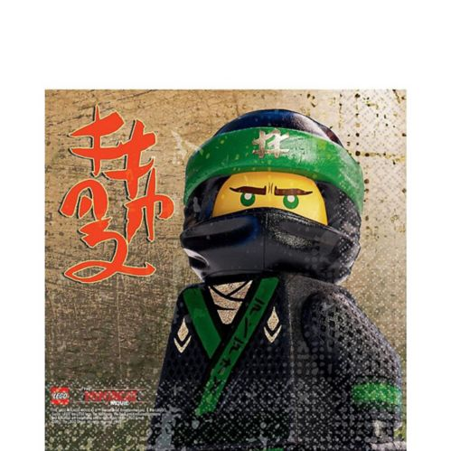 Serviettes de table du film Lego Ninjago, le film, paq. 16