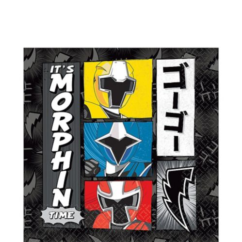 Power Rangers Ninja Steel Lunch Napkins, 16-pk