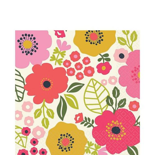 Coral Floral Lunch Napkins, 16-pk