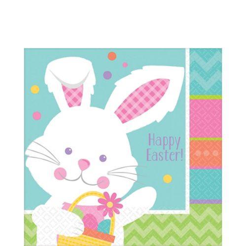 Hippity Hop Easter Bunny Lunch Napkins, 16-pk