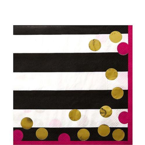 Serviettes de table avec confetti, paq. 16
