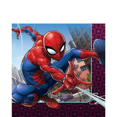 Spider-Man Webbed Wonder Lunch Napkins, 16-pk