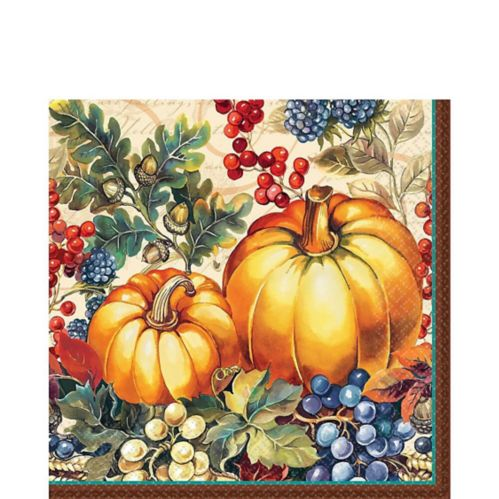 Warm Harvest Lunch Napkins, 16-pk