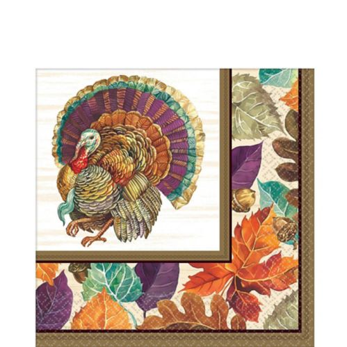 Traditional Thanksgiving Lunch Napkins, 16-pk