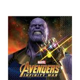 Avengers Infinity War Lunch Napkins, 16-pk