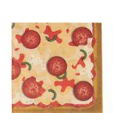 Serviettes de table Soirée pizza, paq. 16 | Amscannull