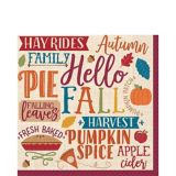 Fall Phrases Lunch Napkins, 16-pk