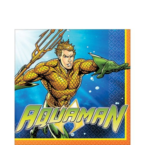 Aquaman Lunch Napkins, 16-pk