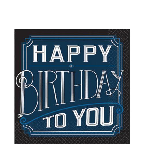 Serviettes de table Happy Birthday classique, paq. 16