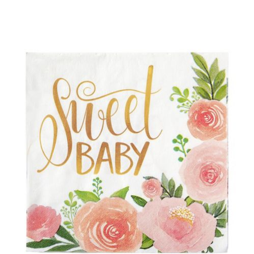Floral Baby Lunch Napkins, 16-pk