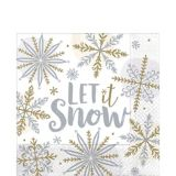 Shining Snow Lunch Napkins, 16-pk