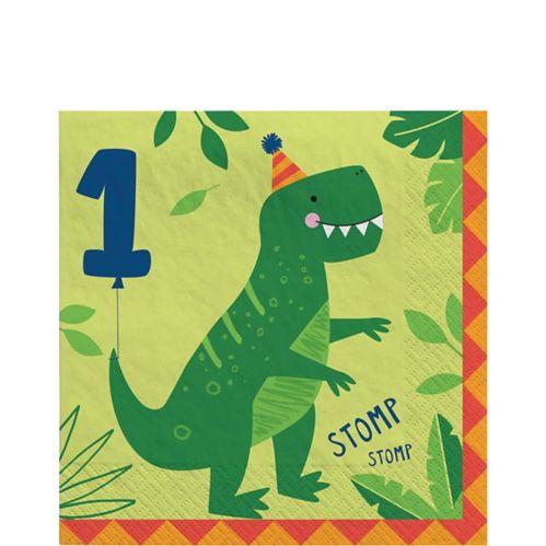 Dino-Mite 1st Birthday Lunch Napkins, 16-pk