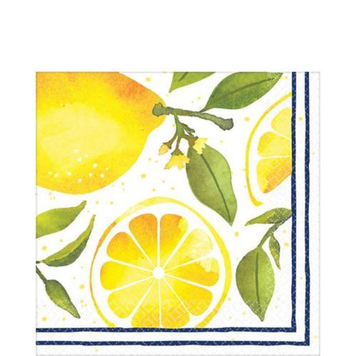 Serviettes de table citron, paq. 16 Image de l'article