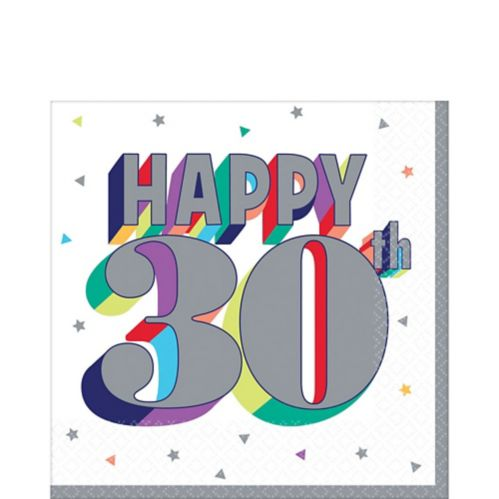 Here's to 30 Birthday Lunch Napkins, 16-pk