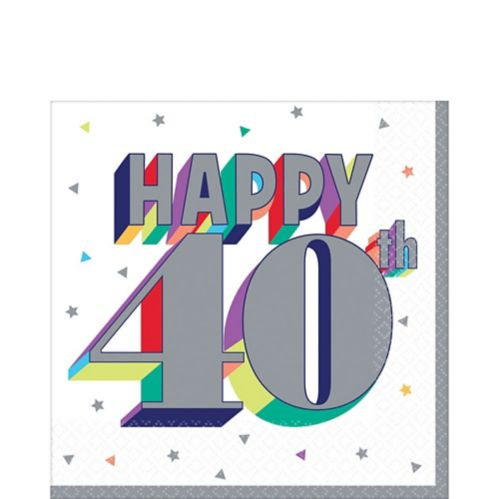 Here's to 40 Birthday Lunch Napkins, 16-pk