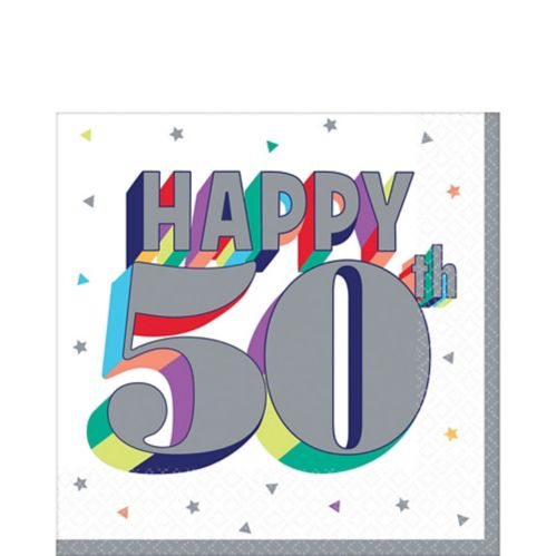 Here's to 50 Birthday Lunch Napkins, 16-pk
