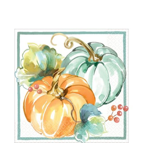 Painted Fall Lunch Napkins, 16-pk