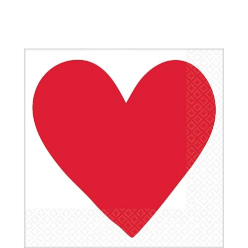 Valentine's Day Heart Lunch Napkins, 16-pk