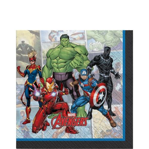 Serviettes de table Marvel Powers Unite, paq. 16